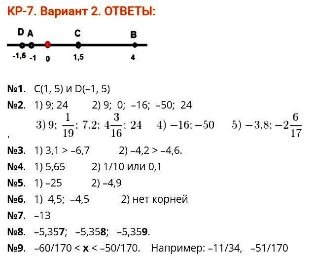 Математика Мерзляк Контрольная 7